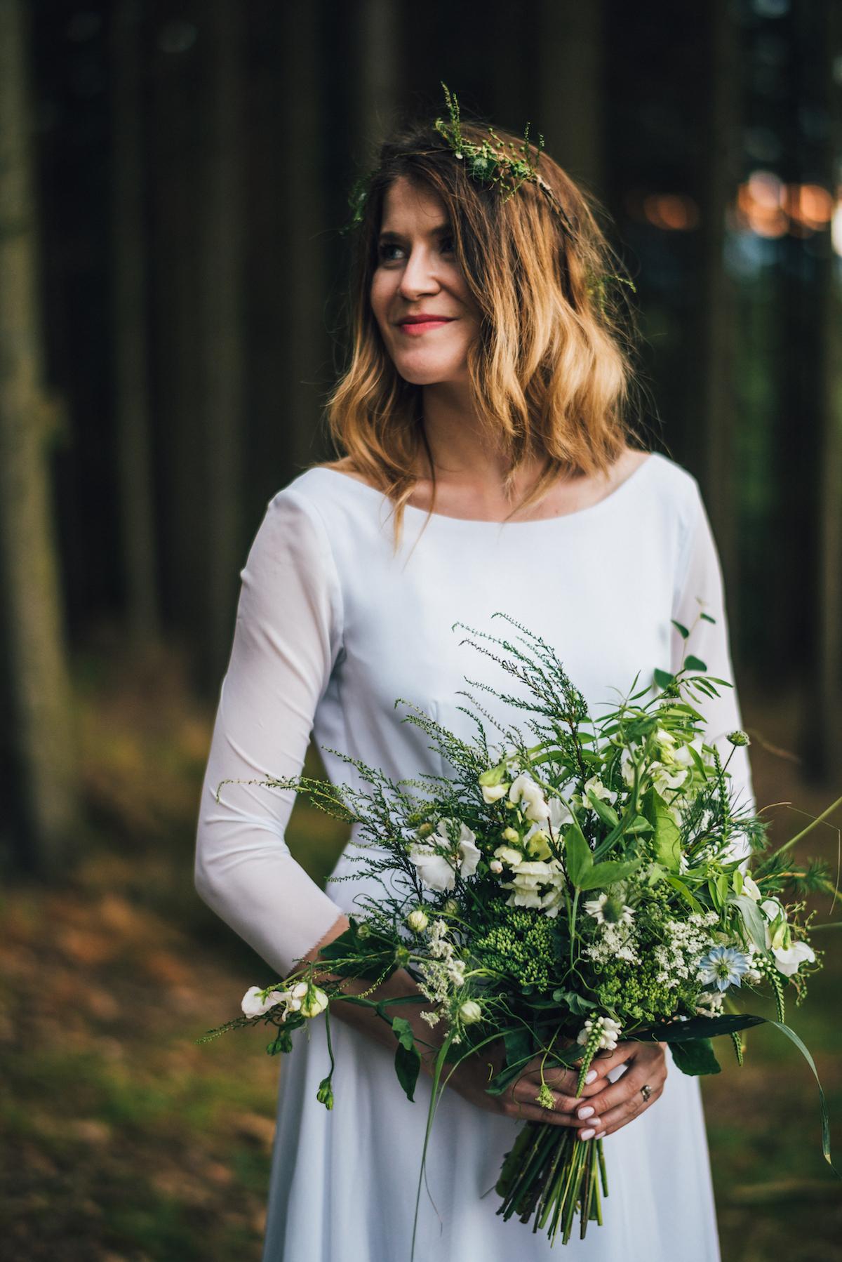 Greenery lesní zeleň svatební kytice kapradí a vřes. c21bc846f0